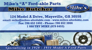 """Mike's """"A"""" Ford-able Parts - - Click to go to website"""